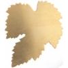 Metal Blank 24ga Brass Leaf 40mm No Hole